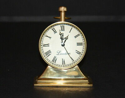 Vintage table top Brass Clock desk top antique collectible watch decorative gift