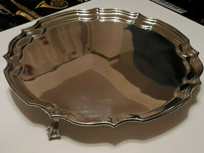 Large Solid Sterling Silver Serving Tray (487g)