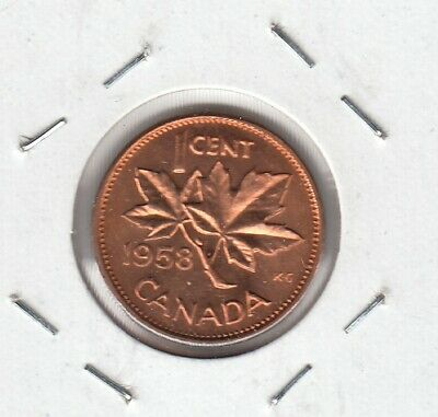 1958 Canada Small Cent Coin