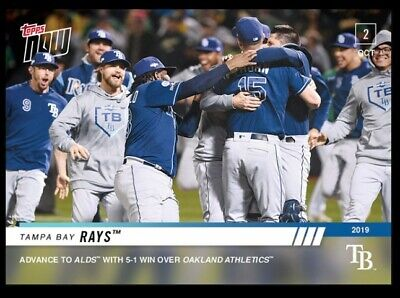 2019 Topps Now Tampa Bay Rays #944 Win Wild Card and Advance to ALDS