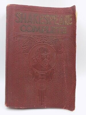 1926 The Complete Works Of William Shakespeare Red Leather Antique