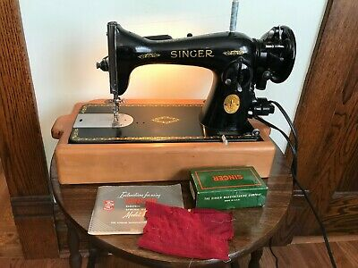 1949 Industrial Direct Drive Singer 15-91 Sewing Machine Cherry Base