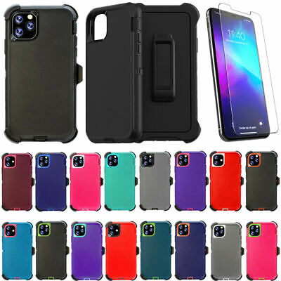 For iPhone 11 11 Pro Max Defender Case w/ Screen & Belt Clip(Clip Fits Otterbox)