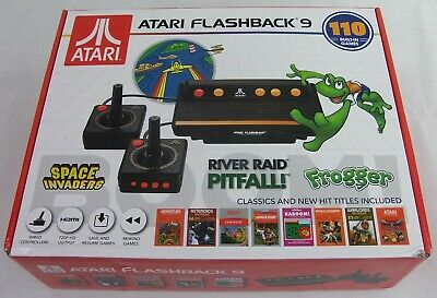 Atari Flashback 9 AR3050 Game Consoles with Wired Joystick Controllers - Black