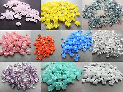 Czech small glass flower bead 7 mm pack of 20