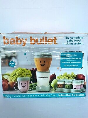 Magic Baby Bullet Complete Food Blender Processor System New Open Box