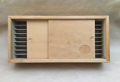 Vintage Rare Napa Valley Box Company 36 Cassette Wall Holder With Doors