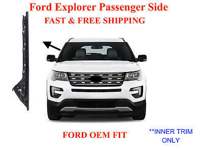 Passenger/Right Pillar Trim Molding (INNER) For 11-19 Ford Explorer Windshield