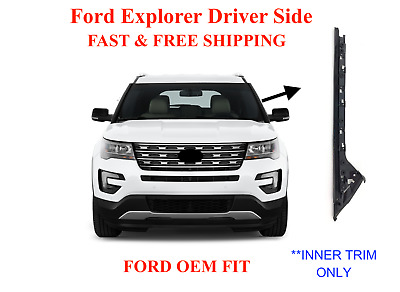 Driver/Left Pillar Trim Molding INNER ONLY For 11-19 Ford Explorer Windshield