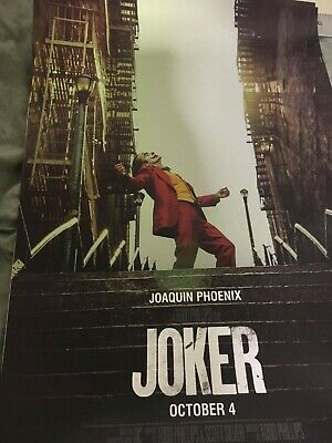 THE JOKER Proud Stand Smile Official Original Movie poster DC NYCC 2019
