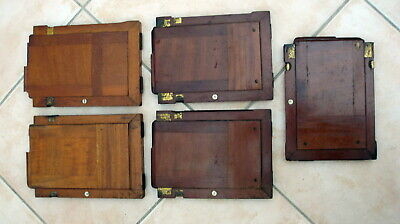 Five Vintage Thornton Pickard Timber Back Plate Film Holders