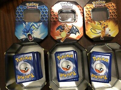 100 Pokemon Tcg Cards In A tin Rare Uncommon Common Trainers Holos