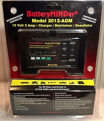 BATTERY Charger Maintainer Desulfator 12 Volt 2 Amp -NEW Batteryminder 2012 AGM
