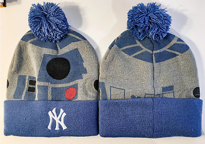 New York Yankees STAR WARS R2D2 Winter Knit Cap Hat 2016 SGA Brand New NYY R2 D2