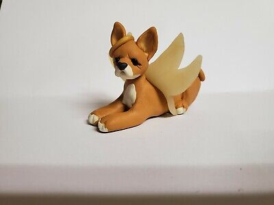 CHIHUAHUA ANGEL Christmas Ornament PET MEMORIAL Red Fawn HAND MADE ooak