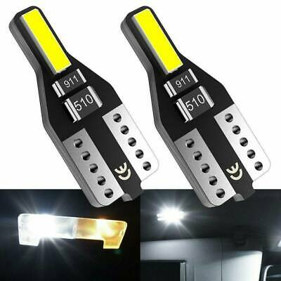 10PCS T10 Wedge 7020SMD Parker Number Plate LED Bulbs W5W 194 168 WHITE CANBUS