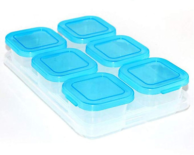 Plastic Food Containers Baby Mini Weaning Freezing Pots Boxes Freezer Storage