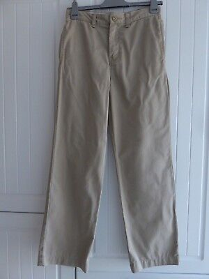 Boys Trousers, Gap Age 13 Beige Chino Trousers, Regular, Normal Fitting Trousers