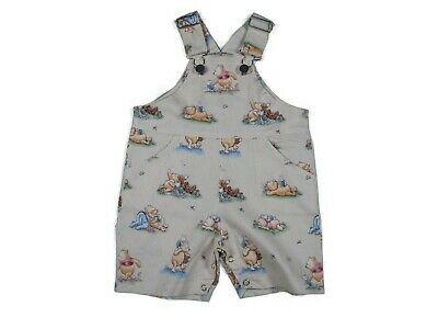 Baby Boys Overalls, baby boys Shortalls,Winnie the Pooh,Handmade Size 00 and 1