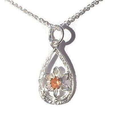 Welsh Daffodil Gold Plated Pewter Pendant On A Chain