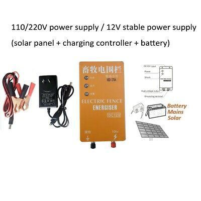 Solar Electric Fence Energizer Charger XSD-270A Voltage Pulse Controll W/Alarm