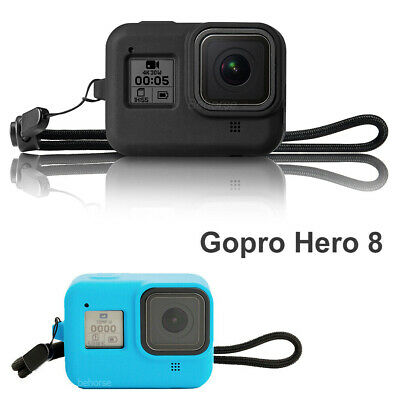 For GoPro HERO 8 Black Silicon Camera Case Protective Skin Rubber Cover Strap UK