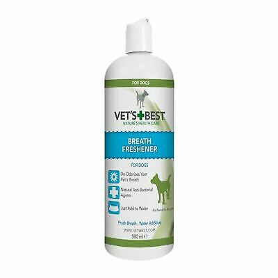 Vets Best Dental Breath Freshener Anti-bacterial Water Additive for Dogs 500ml