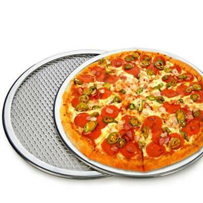 Pizza Screen Aluminium Seamless Rim Pizza Mesh Round Tray Oven Baking 8' - 12' L