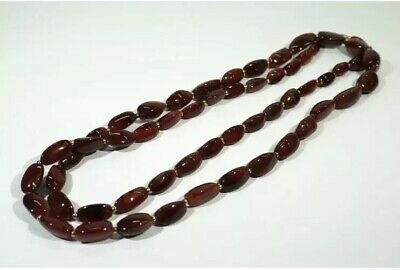 ANTIQUE VICTORIAN  CARNELIAN AGATE BEADS NECKLACE 189 Grams