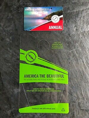 America The Beautiful Pass USA Annual National Parks Exp End May 2020 + Hang Tag