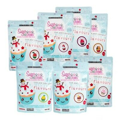 **Winter Flavours** 7 x Flavoured Icing Sugar From Sugar And Crumbs.