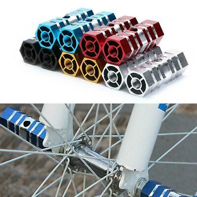2 x BMX Mountain Bike Bicycle Axle Pedal Alloy Foot Stunt Pegs Cylinder Sil C7C4