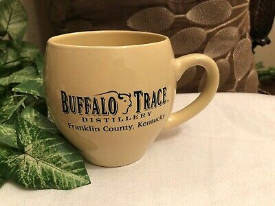 Vintage BUFFALO TRACE BOURBON Whisky DISTILLERY BAR COFFEE MUG Cup Advertising