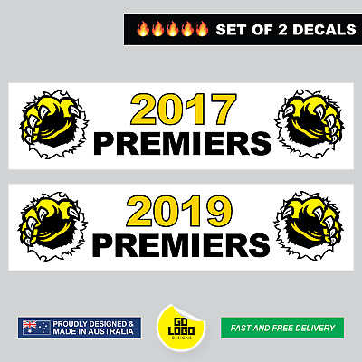 Tigers Stickers Premiers 2017 2019 Richmond Premiership AFL Grand Final Decals