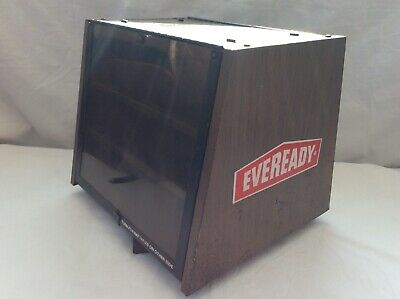 VINTAGE  EVEREADY,  Shop Counter Metal Rotating Display Cabinet.