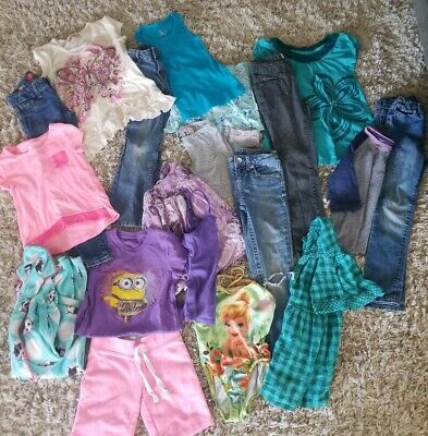 Super Cute Girls Sz 6 7 Lot Tops Shirts Jeans Pants PJs Justice Sonoma Mossimo