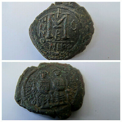 JUSTIN II & Queen Sophia 565AD HUGE Medieval Ancient Byzantine Coin M101