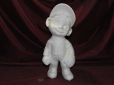Ceramic Bisque Smiley Baseball Player Ready to Paint Unpainted U-Paint Sports