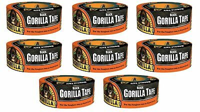 """Black, Pack of 12 Gorilla 6001203-12 Duct Tape Pack Piece 1.88/"""" x 12 yd 12"""