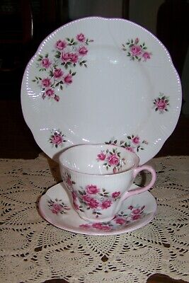 Royal Albert - Pink Roses - Cup, Saucer, & Salad Plate Trio (Excellent Cond.)
