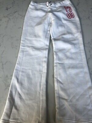 Aeropostale White Tracksuit Trousers / Pants - Girls - Age 10