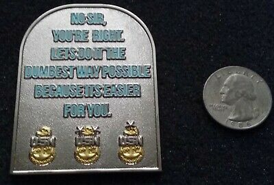 FUNNY Rick and Morty Chief Petty Officer CPO USN Navy US Naval Challenge Coin