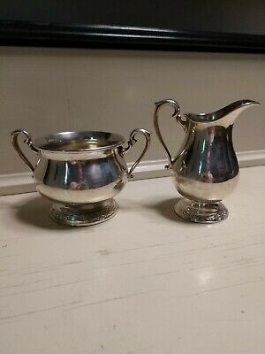 Vintage Camille Silverplate Sugar 6031 And Creamer 6032 International Silver Co.