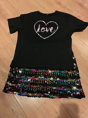 Girls Two Piece Skirt Outfit Party Age 11