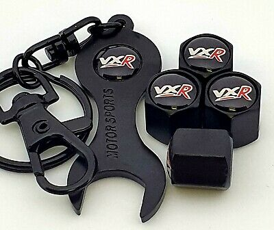 VAUXHALL VXR Black Valve Dust Caps With Spanner ASTRA CORSA INSIGNIA