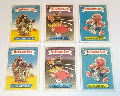 The Garbage Gang Series 1 Vintage Australian 1985 Collector cards X 6