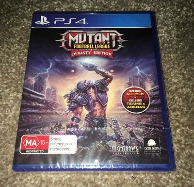 MUTANT FOOTBALL LEAGUE - Dynasty Edition PlayStation 4 PS4 18+ Brand New Sealed