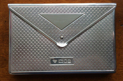 Garrard&Co Sterling Silver Envelope Visiting Card Case,Engine Turned Design 1996