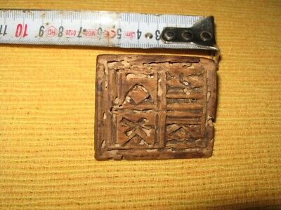 Antique Old Handmade Wooden Authentic Seal Stamp 18th Century Relic