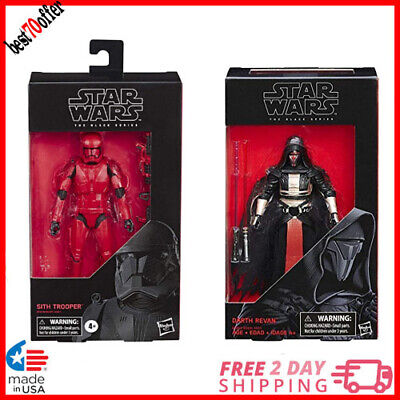 """Star Wars The Black Series Collection Sith Trooper & Darth Revan Toy 6"""""""